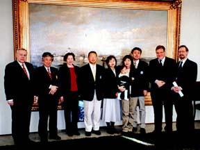 Helsinki市庁舎での札幌グループと芬日協会役員